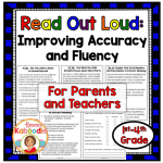 Improve student fluency with this product that provides tips for reading out loud. This is perfect for teachers and parents who want to improve their child's fluency at home.