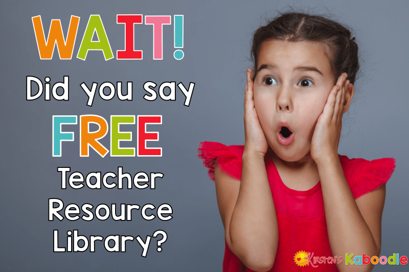 If you are looking for engaging, easy to use activities for your students that are FREE, you are in the right place! You will find language arts and social emotional teaching materials that you can use in your classroom right now. You will get the password to the free resource library when you sign up for the newsletter on www.kirstenskaboodle.com.