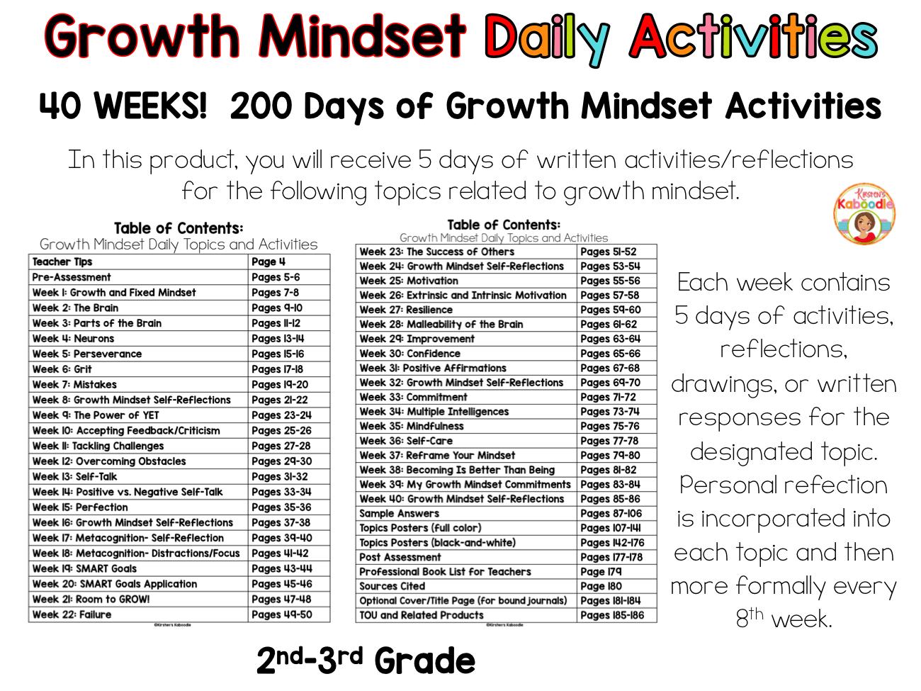 Growth Mindset Bell Ringer Bundle 2nd Grade And Up