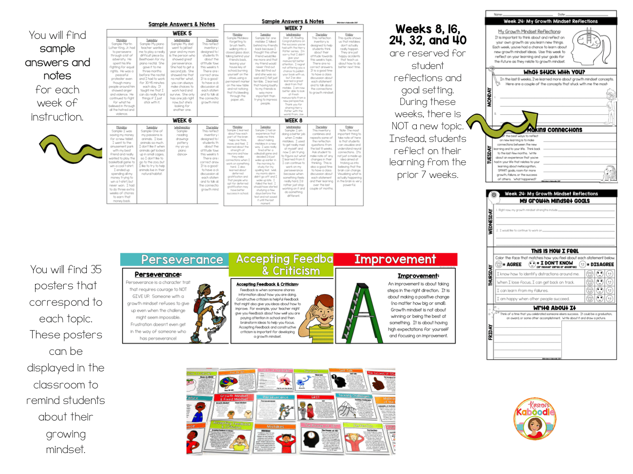 Growth Mindset Activities Daily Warm Up Journal For One