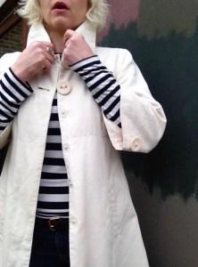 Cream jacket to dress up