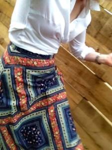 Skirt and shirt combination