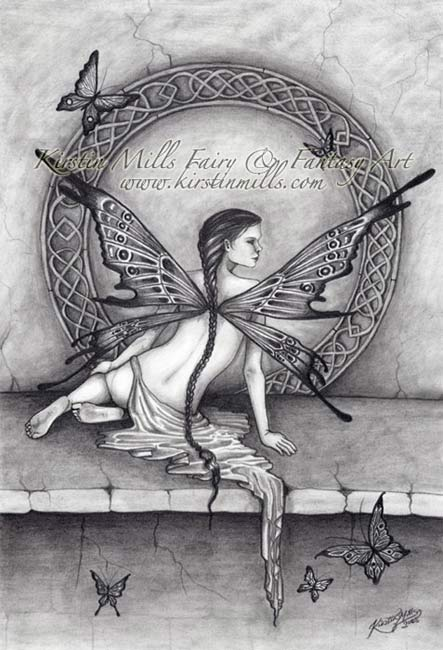 Butterfly Magic Fairy Art by Kirstin Mills, Fairy Tales, Fairies and Fantasy Art and Illustration