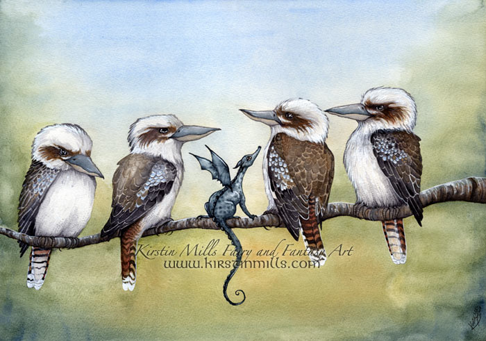 Morning Gossip by Kirstin Mills, Fairy Tales, Fairies and Fantasy Art and Illustration