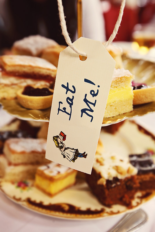 'Eat Me' Cakes at the Alice Tea Party, Wonderland Week, Homerton College, Cambridge