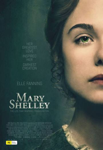 Mary Shelley, Elle Fanning, film, gothic, poster