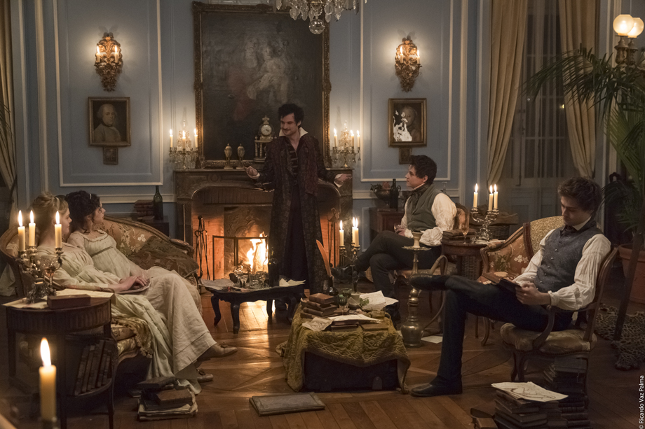 Mary Shelley, gothic, Romantic, Villa Diodati, Elle Fanning, Douglas Booth, film, review
