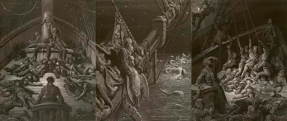 Frankenstein at 200, Frankenstein, Frankenweek, 200th Anniversary, Frankenreads, Mary Shelley, Samuel Taylor Coleridge, Coleridge, Rime of the Ancient Mariner, Ancient Mariner, Blog, Gothic, Novel, Poetry, Kirstin Mills, Gustav Dore