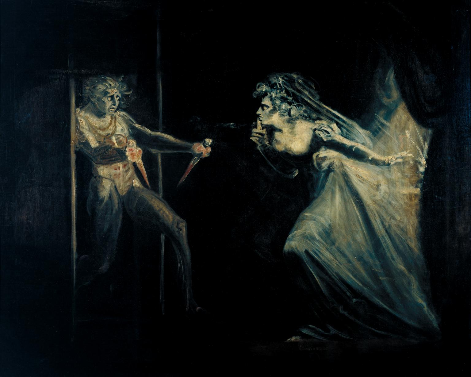 fuseli, henry, macbeth, lady macbeth, painting, gothic