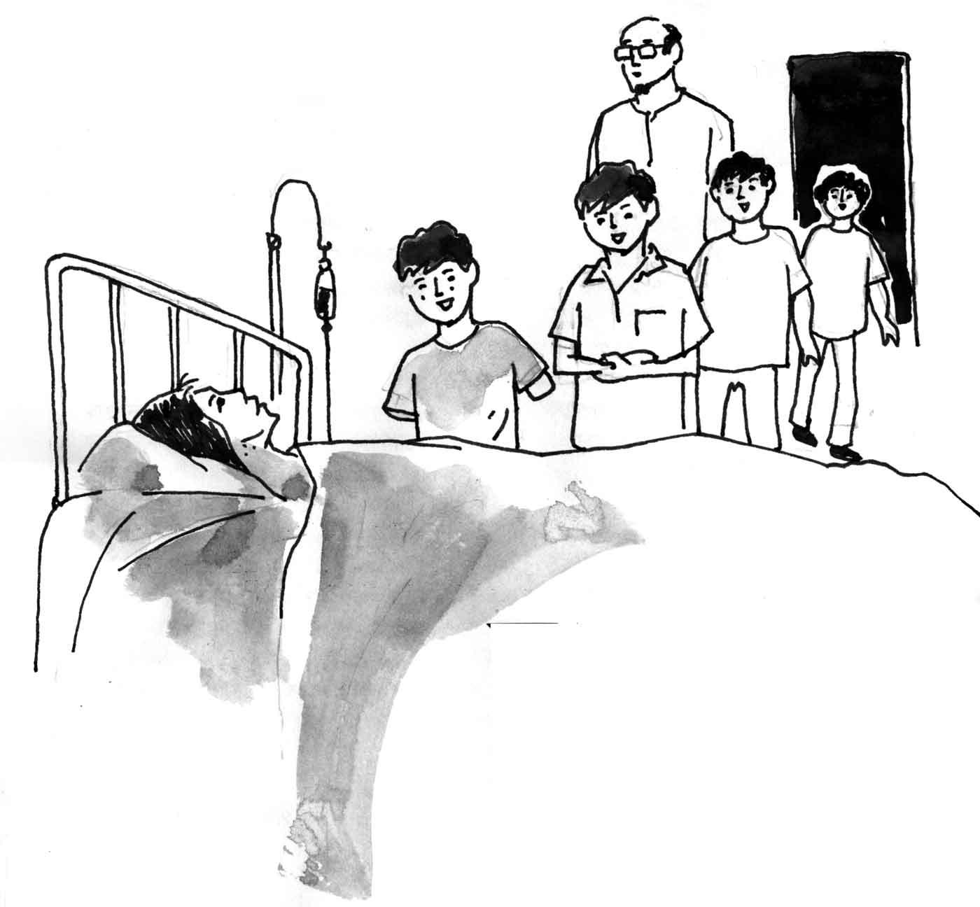 ফুয়াদ, সায়েম ও শোয়েব ওরা তিন বন্ধু অষ্টম শ্রেণীতে লেখাপড়া করে। তিনজন একই স্কুলে পড়ে। ওদের মাঝে খুবই মিল। সবার বাসা পাশাপাশি হওয়ায় প্রতিদিন একই সাথে স্কুলে যায়, আবার স্কুল ছুটির পর একই সাথে বাসায় ফিরে।