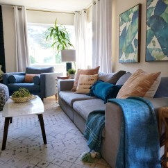 House Of Turquoise Living Room Brown Leather Furniture Decor Kismet Collaboration With Article Mid Century Modern The Envelo Walnut Sideboard Was Chosen Because It Is Just Dang Sexy Also Client Indicated They Love Dark Woods Like And That
