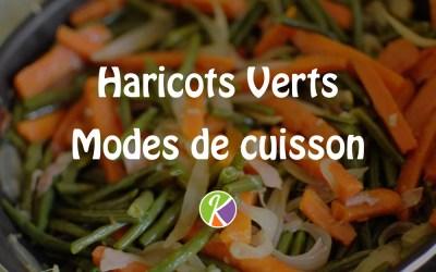 Les modes de cuisson des haricots verts