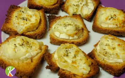 Régalez-vous avec notre toast canapé au fromage de chèvre avec du miel