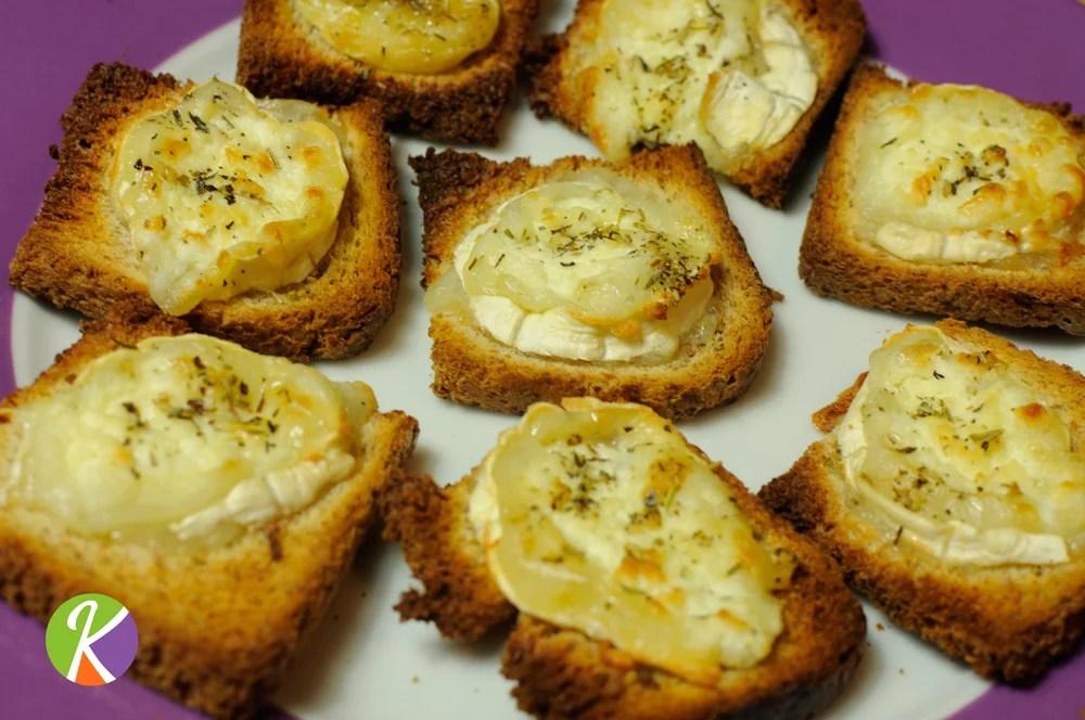 Régalez-vous avec notre toast au fromage de chèvre avec du miel