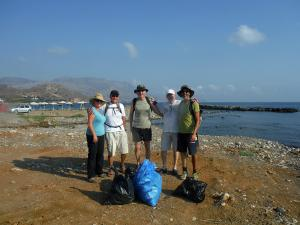 Kissamos beach cleaning