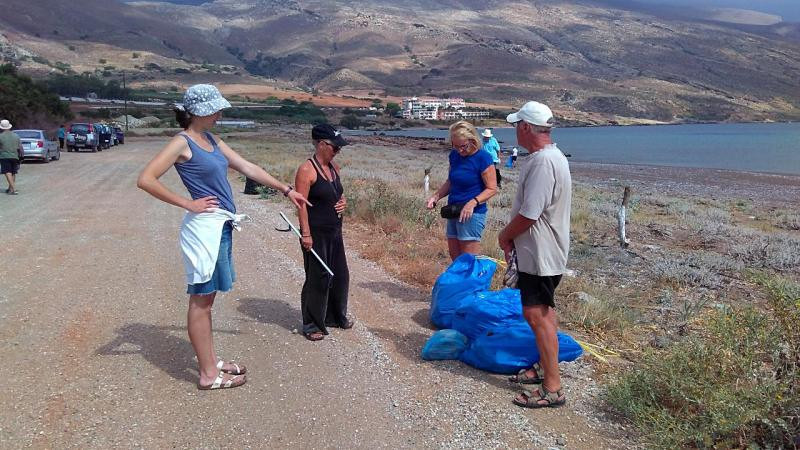 Beach Cleaning in Kalyviani