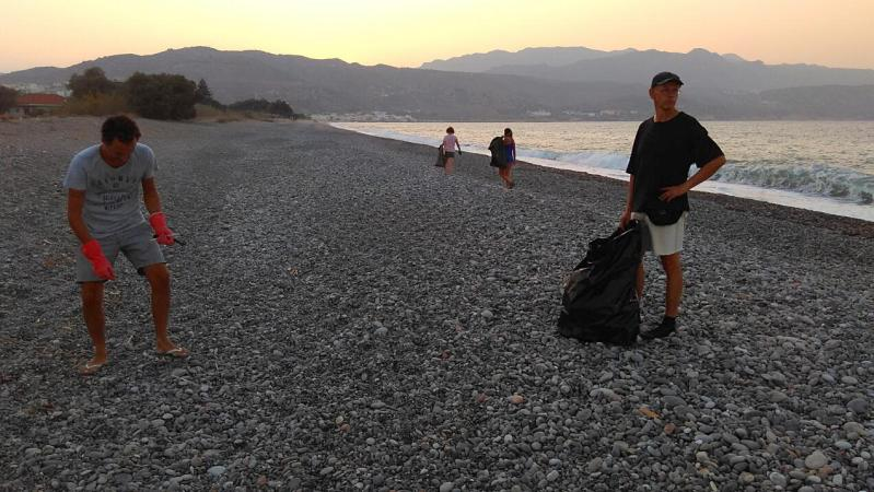 Beach Cleaning around Kolymbari