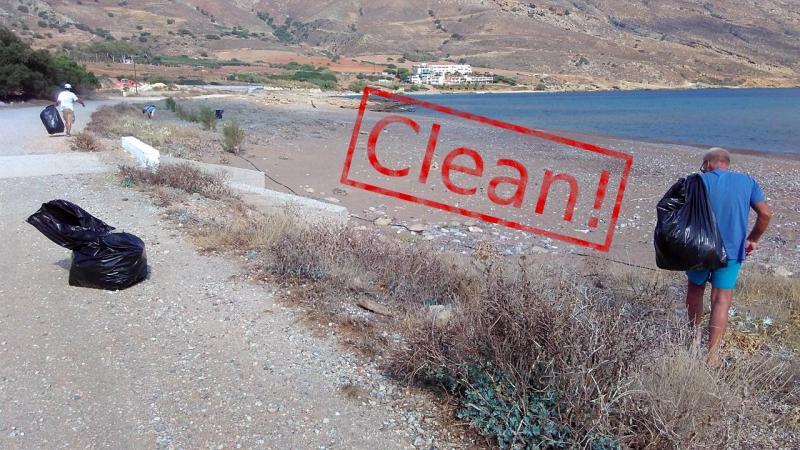 Cleaning Viglia beach