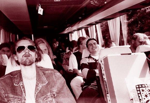 Kiss Army Sweden-bussen på väg mot Köpenhamn.