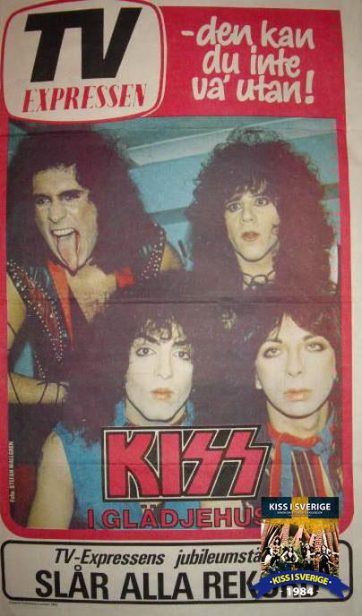 Kiss 1984 Stockholm Hovet