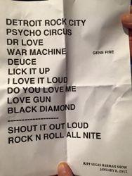 Setlist 2015