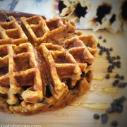 Chocolate Chip Pumpkin Spice Waffles