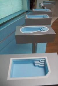 Pool-Formen in der Schwimmbad-Ausstellung   Kissel Stuttgart