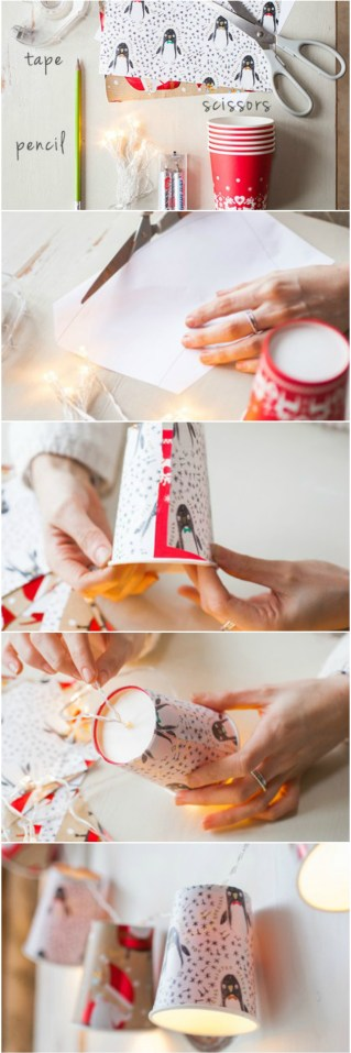 diy party decor using a cup