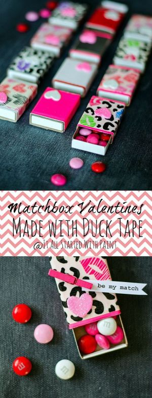 diy matchbox valentines