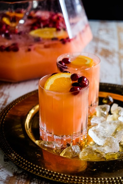 Holiday Cocktail drinks, Rum Punch