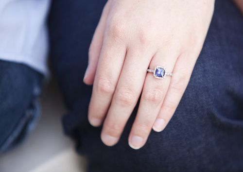 Choosing Shades of Blue for Your Engagement Session
