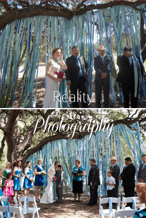 Reality Photography Ceremony Backdrop