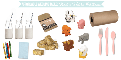 Affordable Wedding Table: Kid's Table Edition