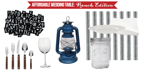 Affordable Wedding Table Breakdown: Ranch Edition