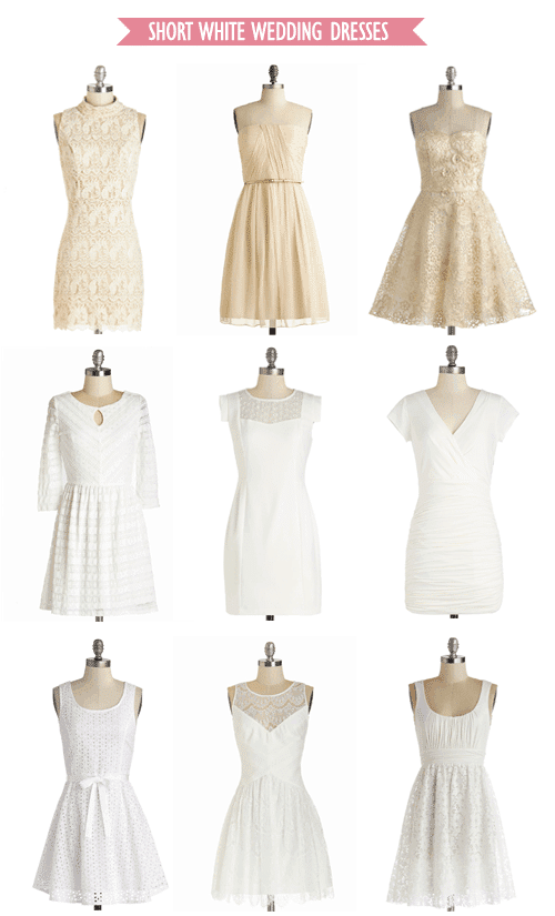 Short White Wedding Dresses from ModCloth