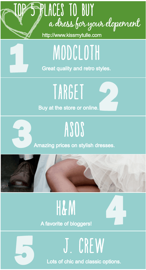 Top 5 Places to Buy a Dress for your Elopement