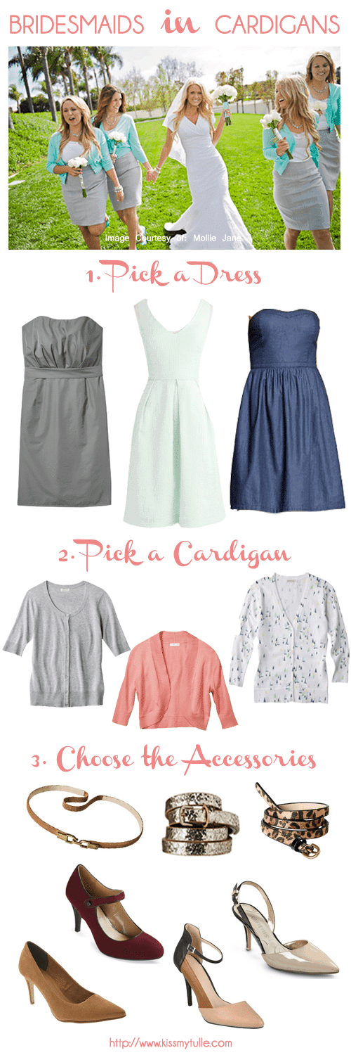 How To Dress Your Bridesmaids in Cardigans