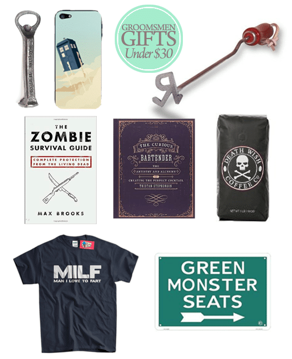Great Groomsmen Gifts for Under $30.00