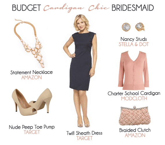 Budget Cardigan Chic Bridesmaid Look