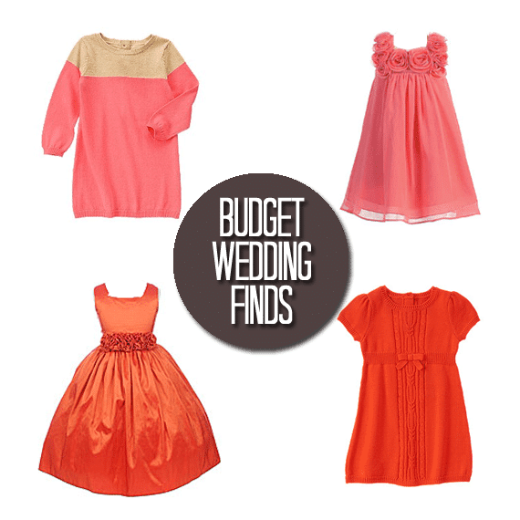 Budget Wedding Finds: Orange Flower Girl Dresses
