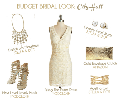 Budget Bridal Look for a City Hall Ceremony or an Elopement