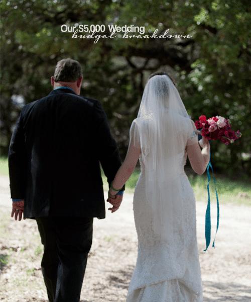 Our $5,000 Wedding Budget Breakdown