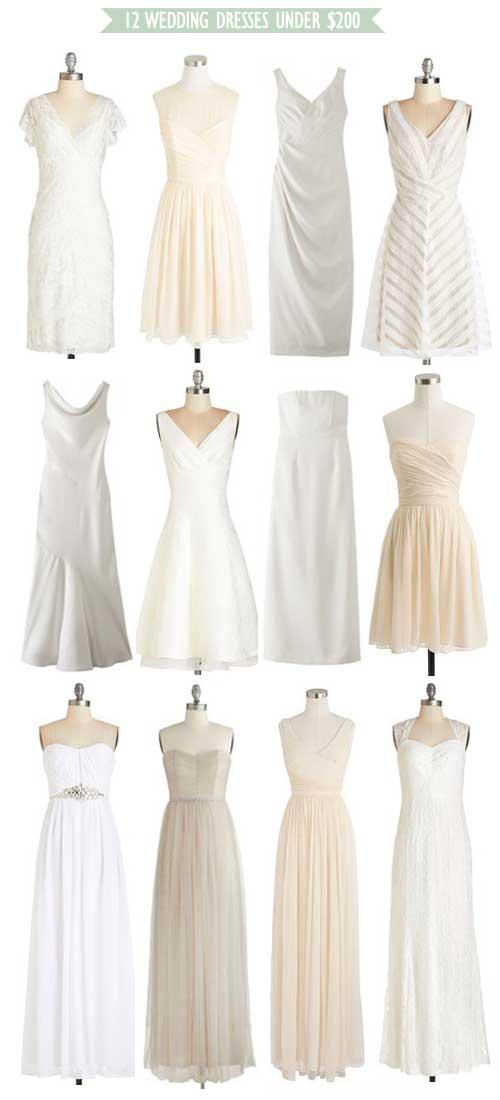 12 Wedding Dresses Under $200!
