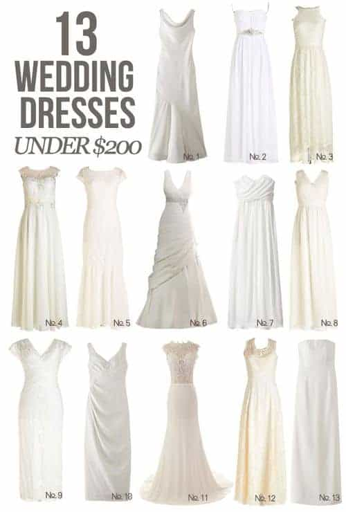 You can have that special wedding dresses AND it doesn't have to cost you the same as a new car || 13 wedding dresses under $200!