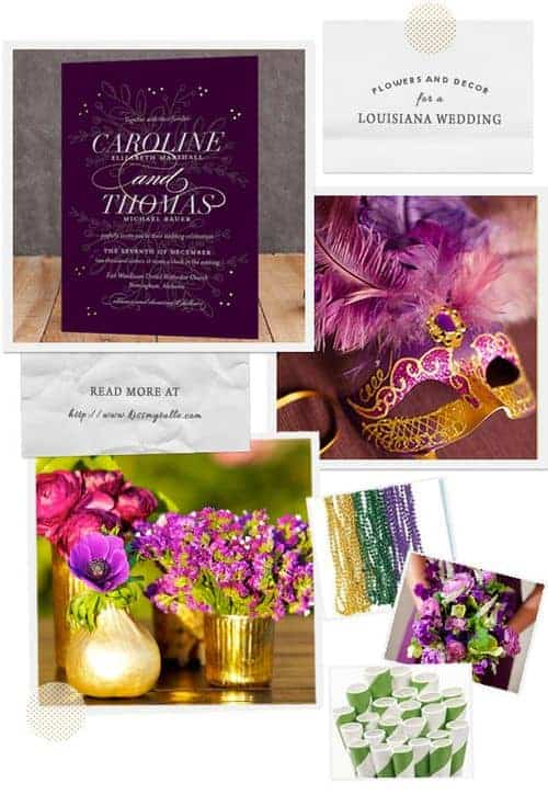 Check out these suggestions for flowers and decor for a Louisiana wedding!