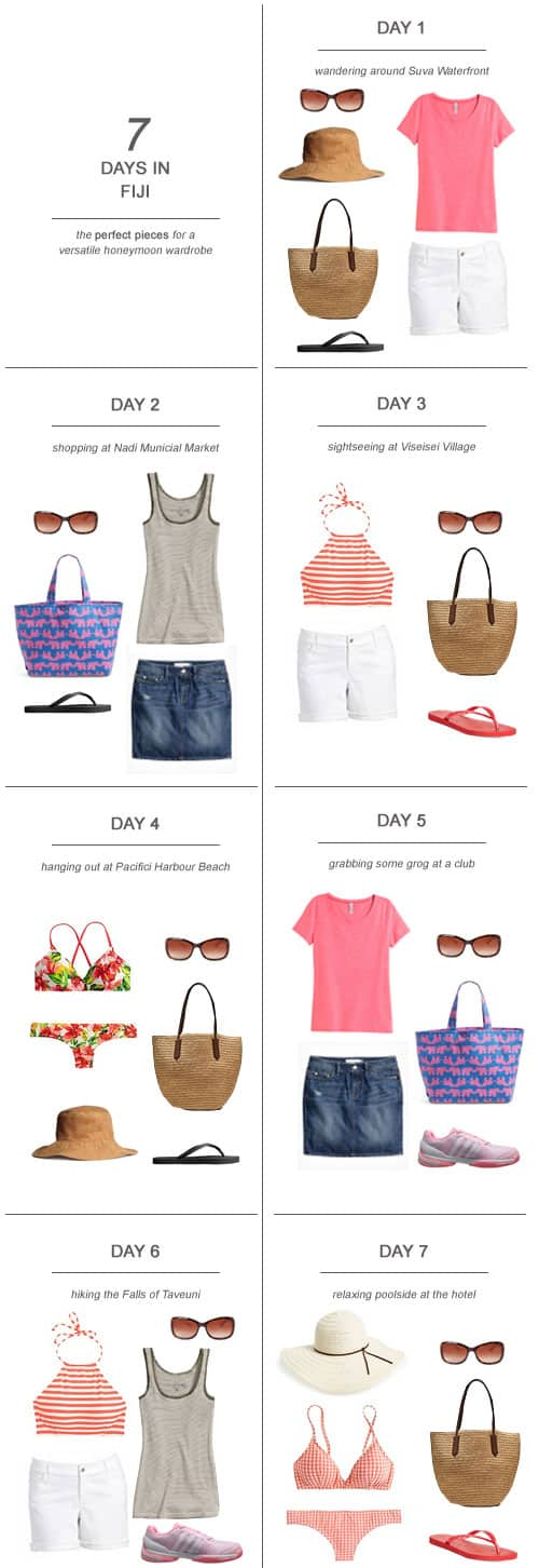 7 Days in Fiji : The Perfect Pieces for a Versatile Honeymoon Wardrobe