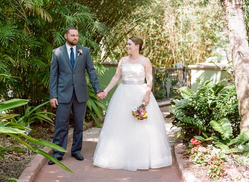 Shannon And Paul's Florida Glamping Wedding For Under