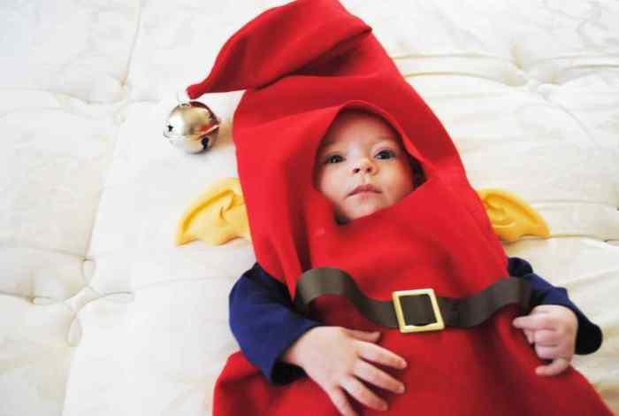 Melanie's 2013 Halloween Costume #Halloween #RiseoftheGuardians #elf #babycostume
