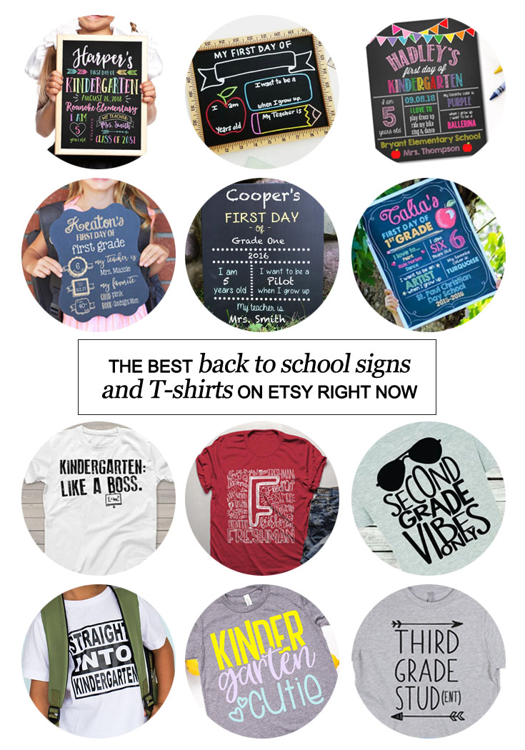Are back to school signs and T-shirts on your etsy list? Then check out the best back to school signs and T-shirts on #etsy right now! #backtoschool #kindergarten