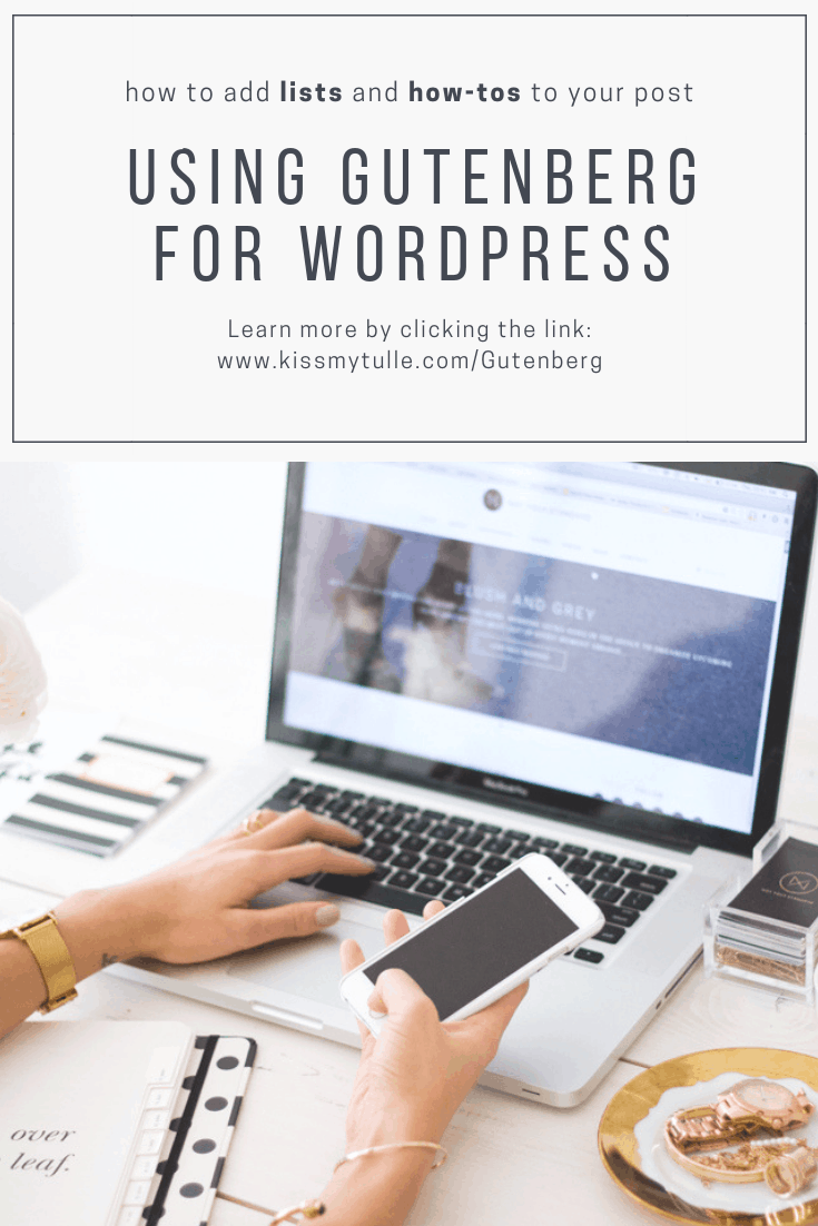 Here's how to add #lists and #howtos to your posts in #Gutenberg for #WordPress. #blogging